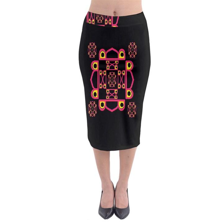 LETTER R Midi Pencil Skirt