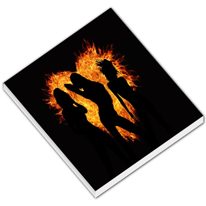Heart Love Flame Girl Sexy Pose Small Memo Pads