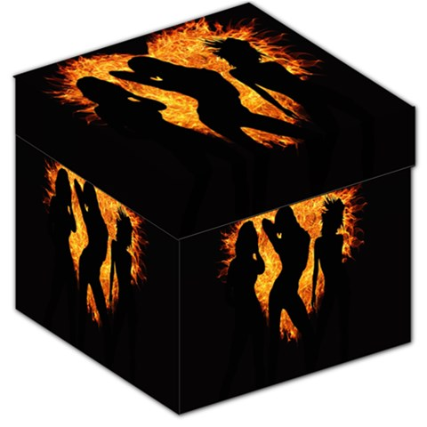 Heart Love Flame Girl Sexy Pose Storage Stool 12