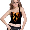 Heart Love Flame Girl Sexy Pose Spaghetti Strap Bra Top View1