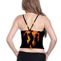 Heart Love Flame Girl Sexy Pose Spaghetti Strap Bra Top View2