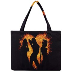 Heart Love Flame Girl Sexy Pose Mini Tote Bag