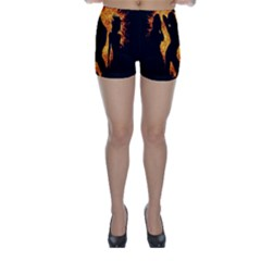 Heart Love Flame Girl Sexy Pose Skinny Shorts