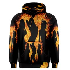 Heart Love Flame Girl Sexy Pose Men s Pullover Hoodie