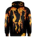 Heart Love Flame Girl Sexy Pose Men s Pullover Hoodie View1