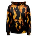Heart Love Flame Girl Sexy Pose Women s Pullover Hoodie View1