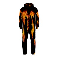 Heart Love Flame Girl Sexy Pose Hooded Jumpsuit (Kids)