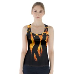 Heart Love Flame Girl Sexy Pose Racer Back Sports Top