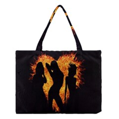 Heart Love Flame Girl Sexy Pose Medium Tote Bag