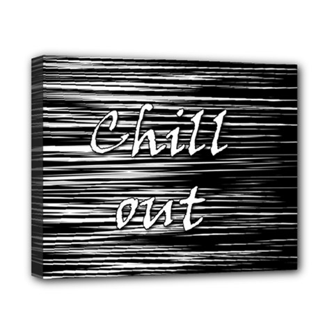 Black an white  Chill out  Canvas 10  x 8