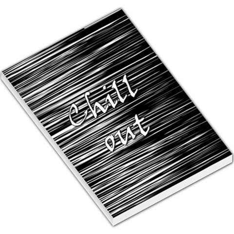 Black an white  Chill out  Large Memo Pads