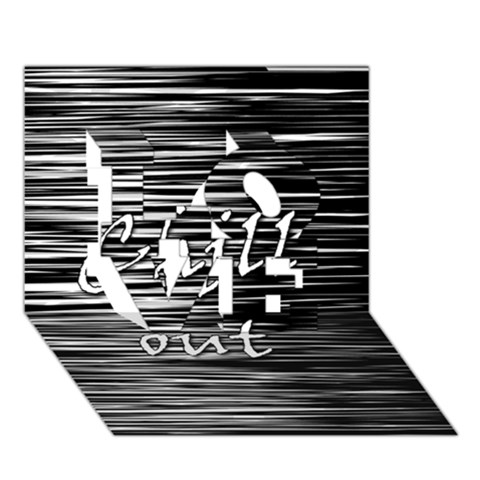 Black an white  Chill out  LOVE 3D Greeting Card (7x5)