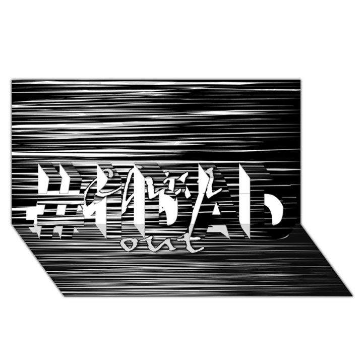 Black an white  Chill out  #1 DAD 3D Greeting Card (8x4)