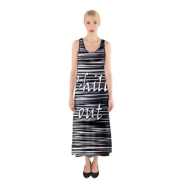Black an white  Chill out  Sleeveless Maxi Dress