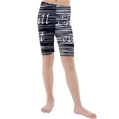 Black An White  chill Out  Kids  Mid Length Swim Shorts
