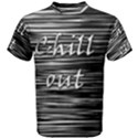 Black an white  Chill out  Men s Cotton Tee View1