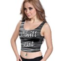 Black an white  Chill out  Crop Top View1