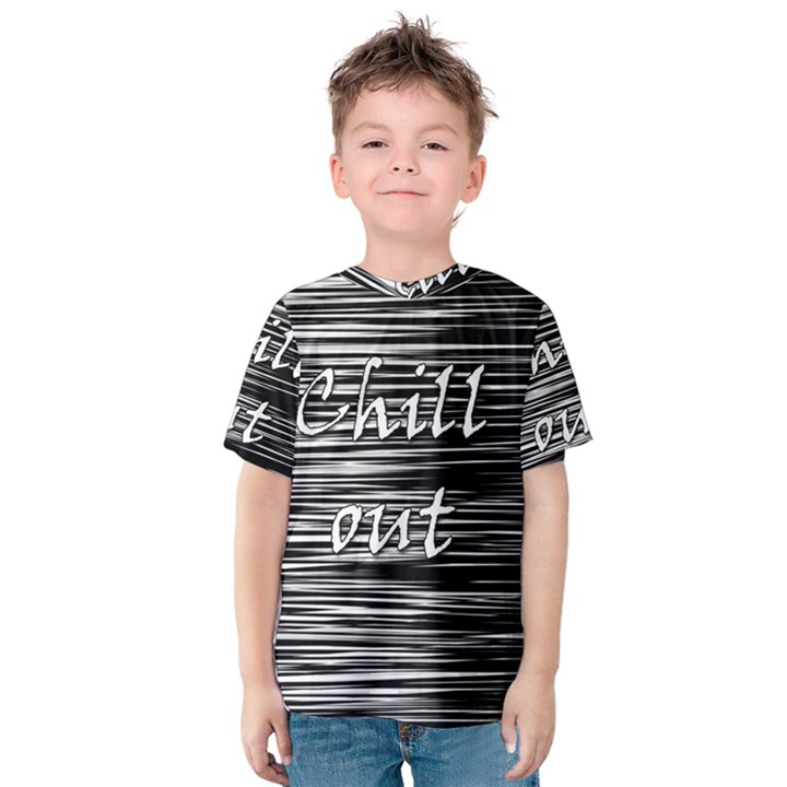 Black an white  Chill out  Kids  Cotton Tee