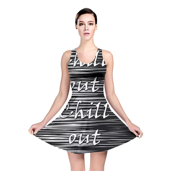 Black an white  Chill out  Reversible Skater Dress