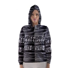 Black an white  Chill out  Hooded Wind Breaker (Women)