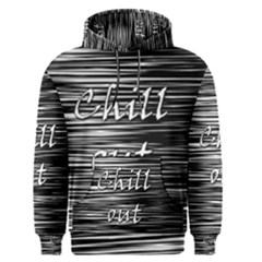 Black An White  chill Out  Men s Pullover Hoodie