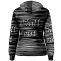 Black an white  Chill out  Women s Pullover Hoodie View2