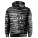Black an white  Chill out  Men s Zipper Hoodie View1