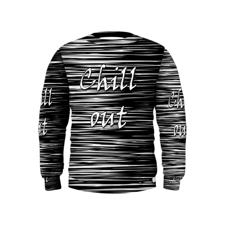 Black an white  Chill out  Kids  Sweatshirt