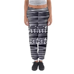 Black an white  Chill out  Women s Jogger Sweatpants