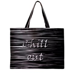 Black an white  Chill out  Zipper Mini Tote Bag