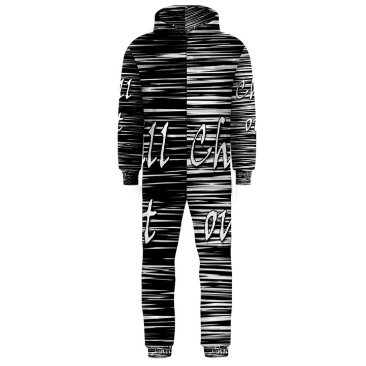 Black an white  Chill out  Hooded Jumpsuit (Men)