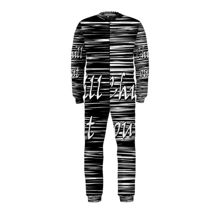 Black an white  Chill out  OnePiece Jumpsuit (Kids)