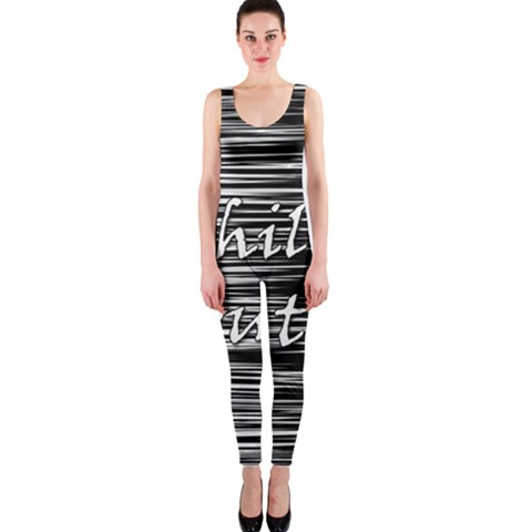 Black an white  Chill out  OnePiece Catsuit