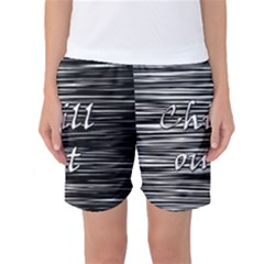 Black an white  Chill out  Women s Basketball Shorts