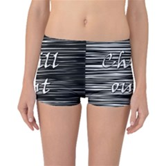 Black An White  chill Out  Boyleg Bikini Bottoms