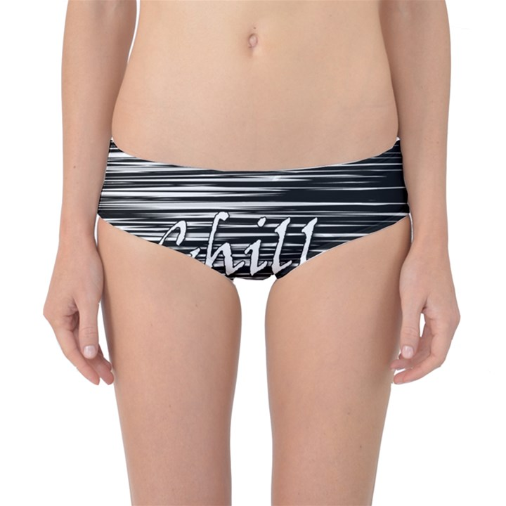 Black an white  Chill out  Classic Bikini Bottoms