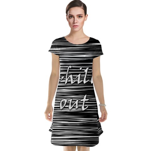 Black an white  Chill out  Cap Sleeve Nightdress