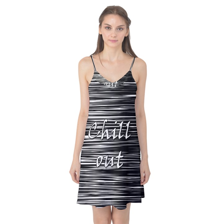 Black an white  Chill out  Camis Nightgown