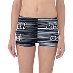 Black an white  Chill out  Reversible Boyleg Bikini Bottoms