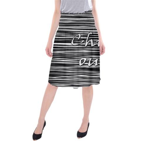 Black an white  Chill out  Midi Beach Skirt