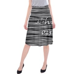 Black an white  Chill out  Midi Beach Skirt
