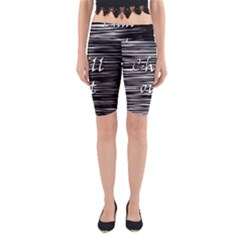 Black An White  chill Out  Yoga Cropped Leggings