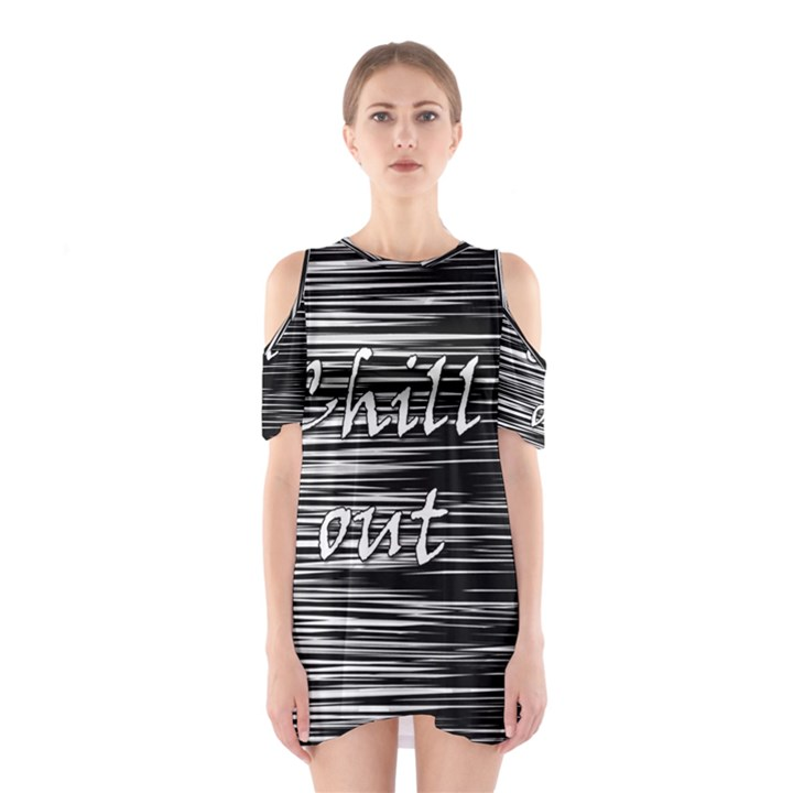 Black an white  Chill out  Cutout Shoulder Dress