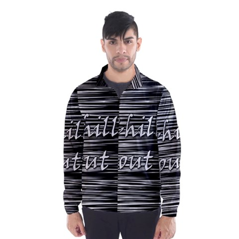 Black an white  Chill out  Wind Breaker (Men)