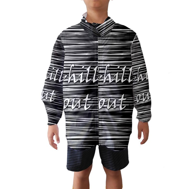 Black an white  Chill out  Wind Breaker (Kids)