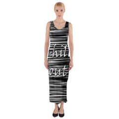 Black An White  chill Out  Fitted Maxi Dress