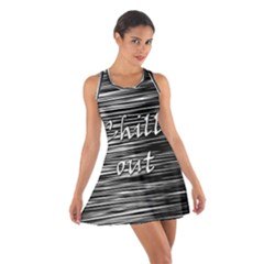 Black an white  Chill out  Cotton Racerback Dress