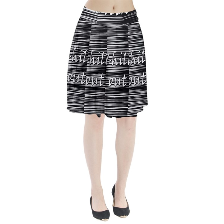 Black an white  Chill out  Pleated Skirt