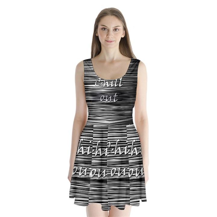 Black an white  Chill out  Split Back Mini Dress