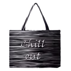 Black an white  Chill out  Medium Tote Bag